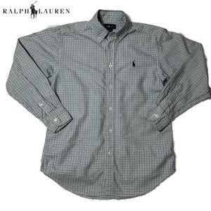 Polo Ralph Lauren's navy/green check button-down